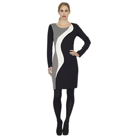 Buy James Lakeland Wave Stripe Dress, Black Online at johnlewis.com