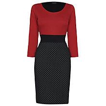 Buy James Lakeland Bicolour Dots Dress, Red/Black/Grey Online at johnlewis.com