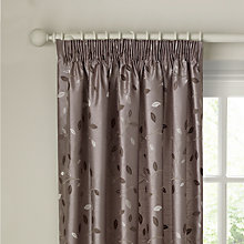 Buy John Lewis Eden Leaf Lined Pencil Pleat Curtains Online at johnlewis.com