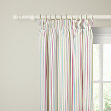 Buy little home at John Lewis Dash Stripe Lined Pencil Pleat Curtains Online at johnlewis.com