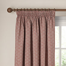 Buy John Lewis Inca Weave Lined Pencil Pleat Curtains Online at johnlewis.com