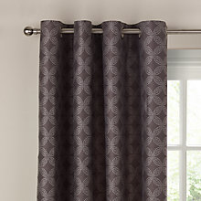 Buy John Lewis Kaleidoscope Lined Eyelet Curtains, Grey Online at johnlewis.com