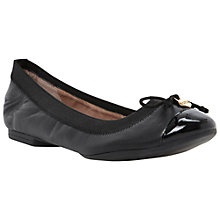 Buy Dune Marisa Patent Leather Toe Ballerinas, Black Online at johnlewis.com