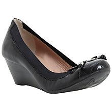 Buy Dune Attic Toe Cap Wedged Pump Shoes, Leopard Pony Online at johnlewis.com