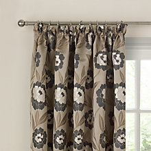 Buy John Lewis April Lined Pencil Pleat Curtains, Natural / Black Online at johnlewis.com