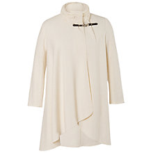 Buy Chesca Cable Collar Coat, White Online at johnlewis.com