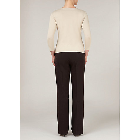 Buy Precis Petite Pleat Front Top,Camel Online at johnlewis.com