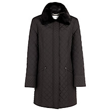 Buy Windsmoor Mid Mini Quilted Coat, Black Online at johnlewis.com