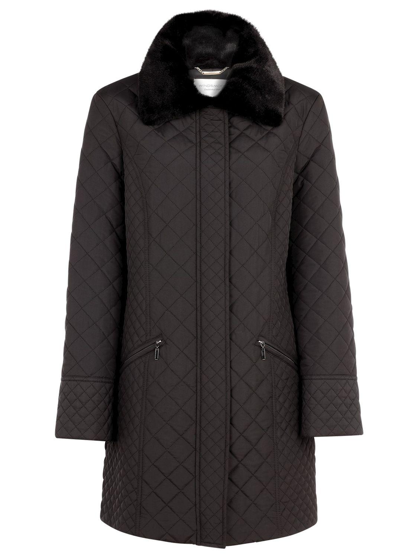 Windsmoor Mid Mini Quilted Coat, Black
