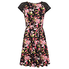 Buy Oasis Bird and Orchid Dress, Multi Black Online at johnlewis.com