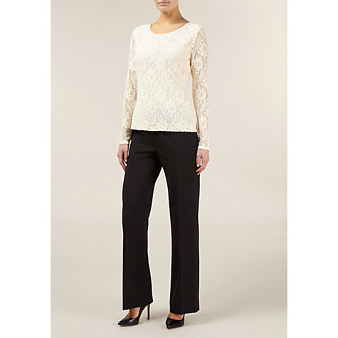 Buy Planet Long Sleeve Jumper, Cream Online at johnlewis.com
