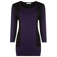 Buy Windsmoor Colour Block Tunic Top, Purple Online at johnlewis.com