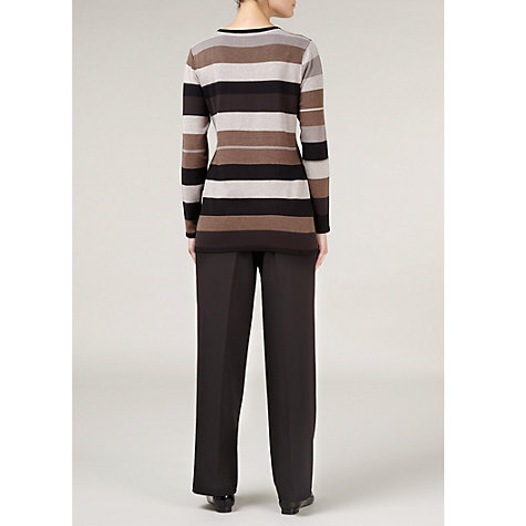 Buy Windsmoor Block Stripe Jumper, Chocolate Online at johnlewis.com