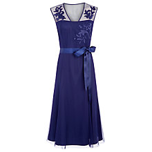 Buy Jacques Vert Flared Occasion Dress, Prussian Blue Online at johnlewis.com