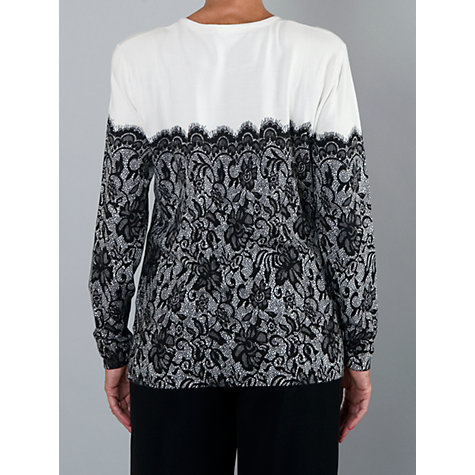 Buy Chesca Lace Print Jumper, White Online at johnlewis.com