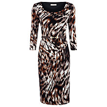 Buy Planet Belted Animal Print Dress, Dark Online at johnlewis.com