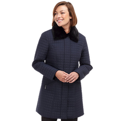 Buy Windsmoor Mid Mini Quilted Coat, Navy Online at johnlewis.com