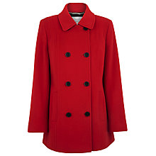 Buy Windsmoor Double Breasted Coat, Red Online at johnlewis.com