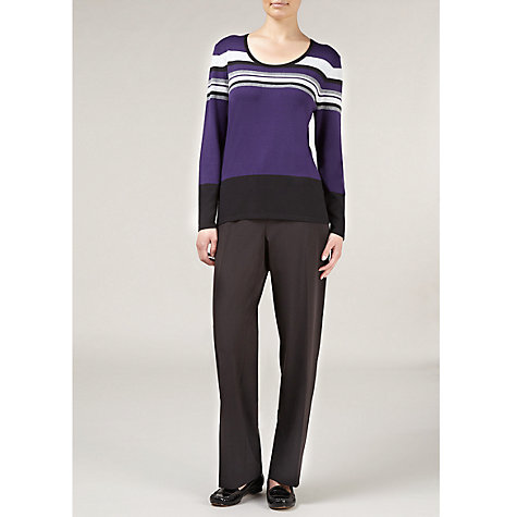 Buy Windsmoor Multi Striped Jumper, Purple Online at johnlewis.com