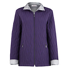 Buy Jacques Vert Wave Detail Quilted Jacket, Purple Online at johnlewis.com