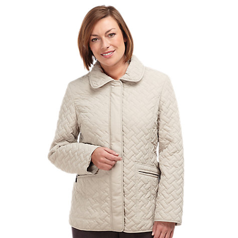 Buy Windsmoor Quilted Jacket, Oyster Online at johnlewis.com
