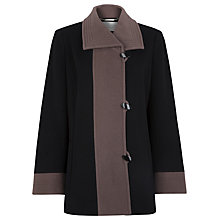 Buy Windsmoor Short Contrast Coat, Black Online at johnlewis.com