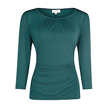 Buy Kaliko Ruched Jersey Top, Green Online at johnlewis.com