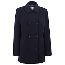 Buy Windsmoor Short Double Breasted Coat, Navy Online at johnlewis.com