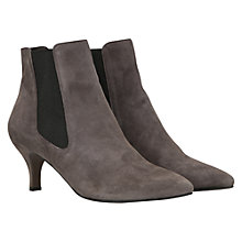 Buy Mint Velvet Suede Kitten Heel Point Toe Ankle Boots, Grey Online at johnlewis.com