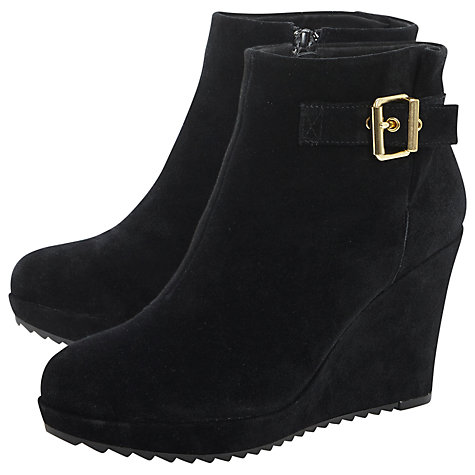 Buy Dune Peet Platform Ankle Boots, Black Online at johnlewis.com