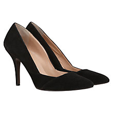 Buy Mint Velvet Suede Kitten Heel Court Shoes, Black Online at johnlewis.com