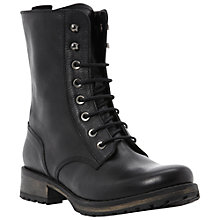 Buy Dune Prop Lace Up Biker Boots Online at johnlewis.com