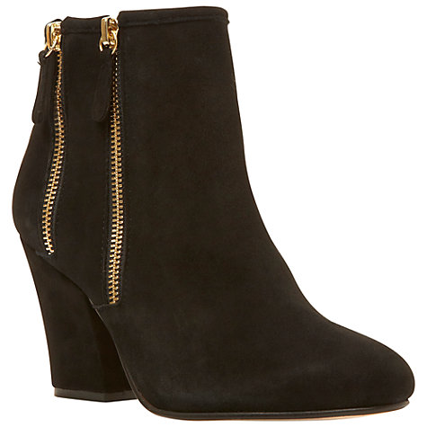 Buy Dune Noras Ankle Boots, Black Suede Online at johnlewis.com