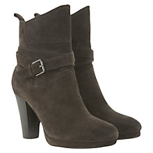 Buy Mint Velvet Suede Cross Ankle Boots, Charcoal Online at johnlewis.com
