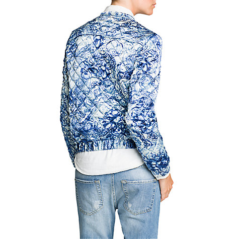 Buy Mango Paisley Print Bomber Jacket Online at johnlewis.com