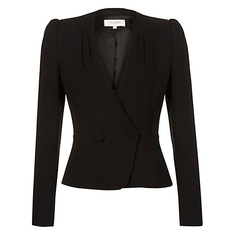 Buy Hobbs Emilia Jacket, Black Online at johnlewis.com