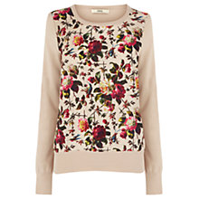 Buy Oasis Rose Print Top, Neutral Online at johnlewis.com