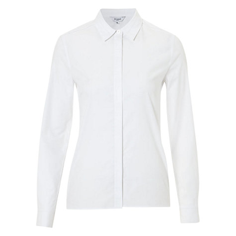 Buy Hobbs Venitia Shirt, White Online at johnlewis.com
