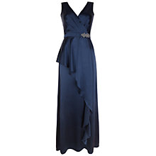 Buy Ariella Daphne Satin Dress, Navy Online at johnlewis.com