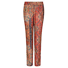 Buy Mango Ethnic Print Flowy Trousers, Red Online at johnlewis.com