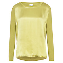 Buy Reiss Lily Long Sleeve Top, Absinthe Online at johnlewis.com
