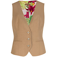 Buy Ted Baker Upalaw Flannel Suit Waistcoat, Camel Online at johnlewis.com
