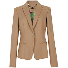 Buy Ted Baker Upala Flannel Suit Blazer, Camel Online at johnlewis.com