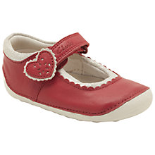 Buy Clarks Ida Heart Shoes, Red Online at johnlewis.com
