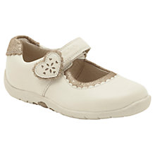 Buy Clarks Soft Heart Leather Shoes, Cream/Beige Online at johnlewis.com