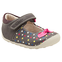 Buy Clarks Ida Dotty Shoes, Grey/Multi Online at johnlewis.com