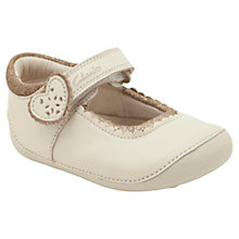 Buy Clarks Ida Heart Shoes, Cream/Beige Online at johnlewis.com
