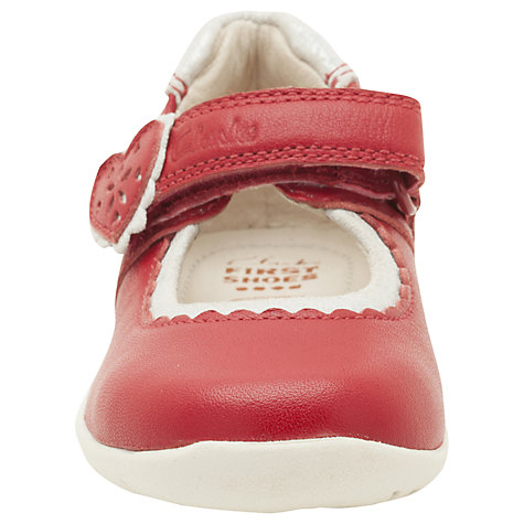 Buy Clarks Softly Heart Mary-Jane Shoes, Red Online at johnlewis.com