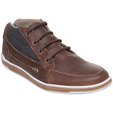 Buy Dune Sheldon Pointer Leather Trainers, Brown Online at johnlewis.com