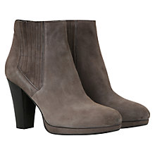 Buy Mint Velvet Suede Ankle Boots, Grey Online at johnlewis.com